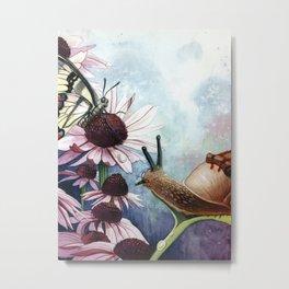 The little Snail Metal Print