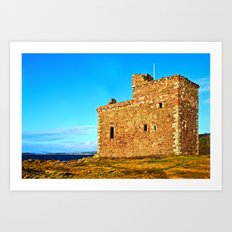 Portencross Castle Art Print