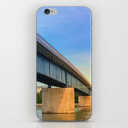 Bridge across the river Danube II | architectural photography iPhone Skin