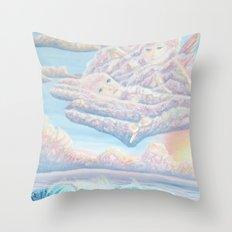 Les anges gardiens de l'amour Throw Pillow