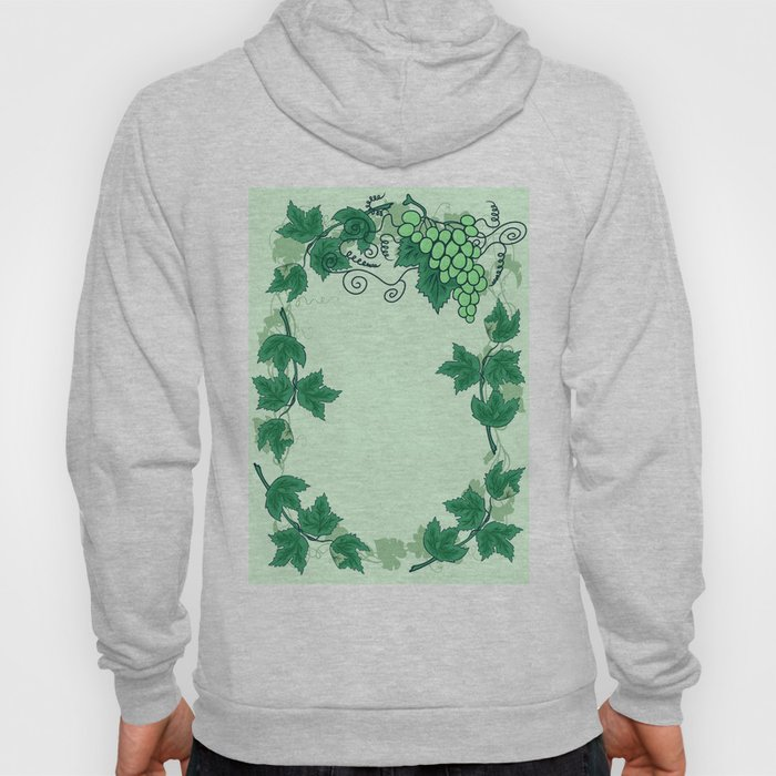 Abstract grapevine with frame from leaves Hoody