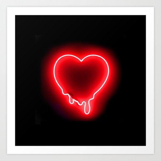 Heart (Neon-Red Edition) Art Print