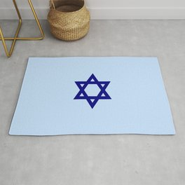 Star of David 9- Jerusalem -יְרוּשָׁלַיִם,israel,hebrew,judaism,jew,david,magen david Rug