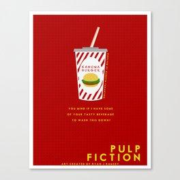 Pulp Non-Fiction Minimalism Canvas Print