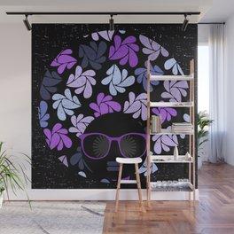 Afro Diva Purple Wall Mural
