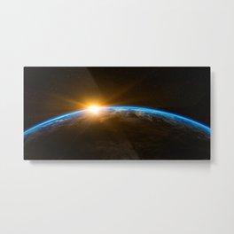 Sunrise Planet Earth Metal Print