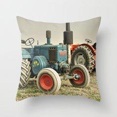 Blue Lanz Throw Pillow