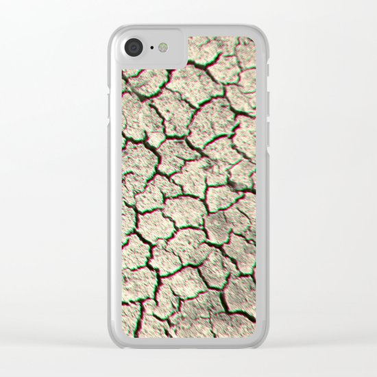 Trippy desert land Clear iPhone Case