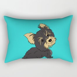 A Bossy Yorkie Rectangular Pillow