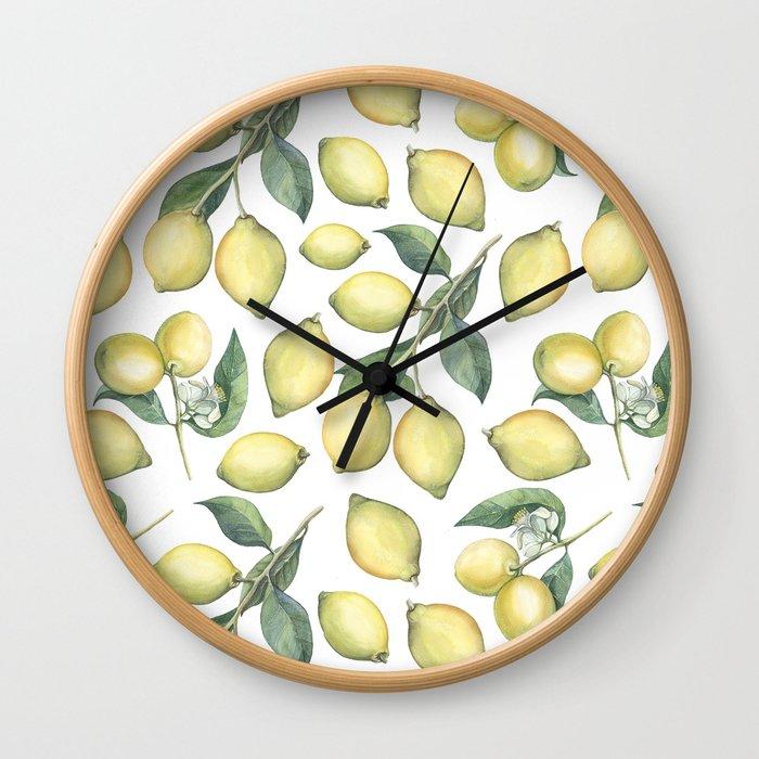 Lemon Fresh Wall Clock