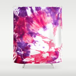 Modern Artsy Abstract Neon Pink Purple Tie Dye Shower Curtain