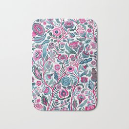 Endlessly growing - pink and turquoise Bath Mat