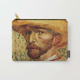 Van Gogh, Self-Portrait with Straw Hat, – Van Gogh,Vincent Van Gogh,impressionist,post-impressionism Carry-All Pouch