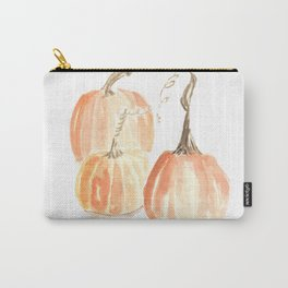 Twisted Stem Pumpkins in Watercolor Carry-All Pouch
