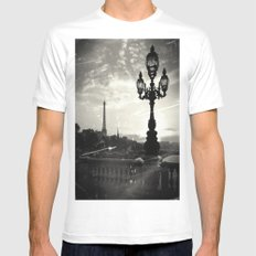 Mysterious Paris Mens Fitted Tee White MEDIUM