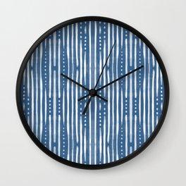 Shibori Tribal #society6 #shibori Wall Clock