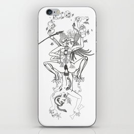 Dancing Yogini with  Skulls iPhone Skin