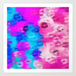 kisses with love Art Print