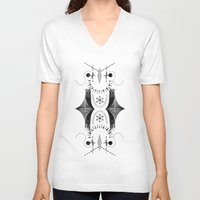 spiritual V-neck T-shirts featuring Spiritual geo by FakeFred
