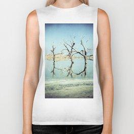 Three Trees in the Sea - Salton Sea California Biker Tank