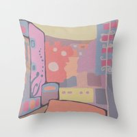 portugal Throw Pillows featuring OPORTO (PORTUGAL) by Valentina Paglia