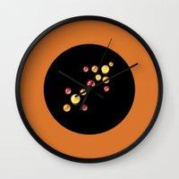 sagittarius Wall Clocks featuring Sagittarius by rusanovska