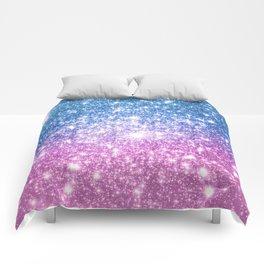 Galaxy Sparkle Stars Blue Lavender Comforters