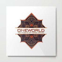 Rubino One World Metal Print