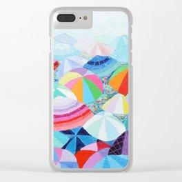 Seaside Summer Clear iPhone Case