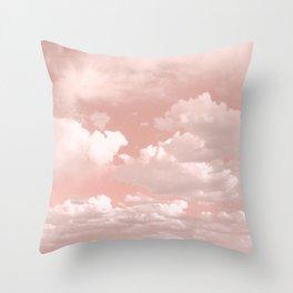 Clouds in a Peach Sky Throw Pillow