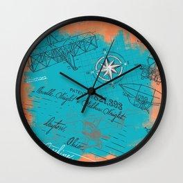 Retro flying Wall Clock
