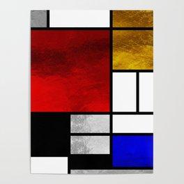 Luxury Mondrian Poster