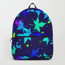 Forever Autumn Leaves blue 2 Backpack
