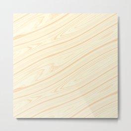 Basswood Surface Texture Metal Print