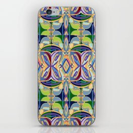 Butterfly mosaic - brightly colored pattern iPhone Skin