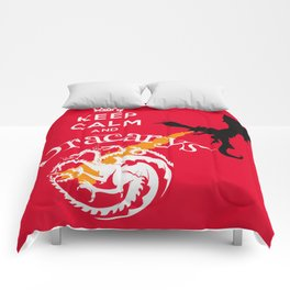 Keep Calm and Drakarys Comforters