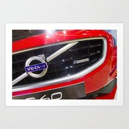 Volvo S60 T6 R-Design Logo Art Print