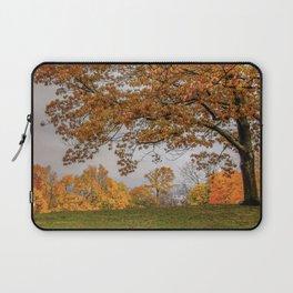 Brookline, Summer street view of fall Laptop Sleeve
