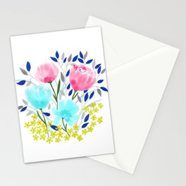 Spring Roses Bouquet Stationery Cards