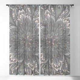 Florl Ornament Sheer Curtain