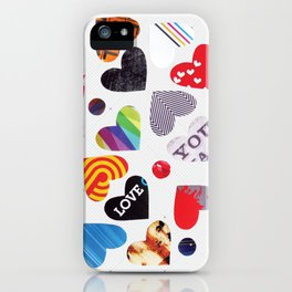 Heart Patterns iPhone Case