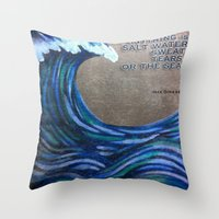 the cure Throw Pillows featuring The Cure by Jeanne Hollington