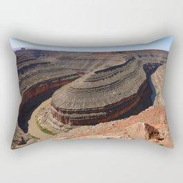A Meander Of The Goosenecks Rectangular Pillow