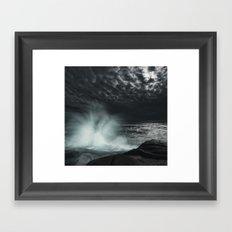 Fading Moonlight Framed Art Print