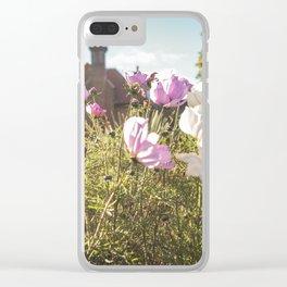 Flower house garden Clear iPhone Case