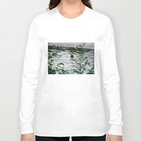 fishing Long Sleeve T-shirts featuring Fishing by Tayloroo