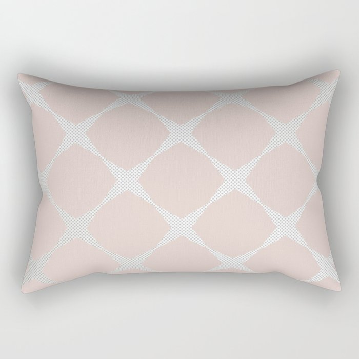 Polka Dots & Pink Tiles Rectangular Pillow