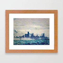 Blue Wave Chicago Framed Art Print