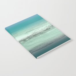 Twilight Sea in Shades of Green and Lavender Notebook