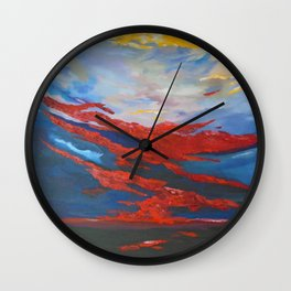 Sunset over the islands of Ireland Wall Clock